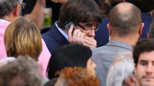 加泰獨派主席普伊格蒙特2017年10月21日巴塞羅那
