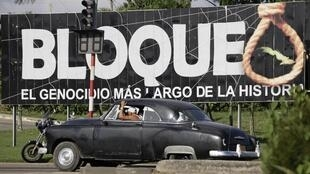 'Bloqueo, el genocidio más largo de la historia', en La Habana, Cuba.
