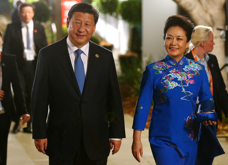 習近平與夫人出席G20峰會官方活動。2014-11-15