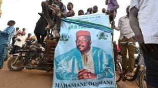 Partidarios del candidato presidencial opositor de Níger, Mahamane Ousmane, el 19 de febrero de 2021 en Niamey