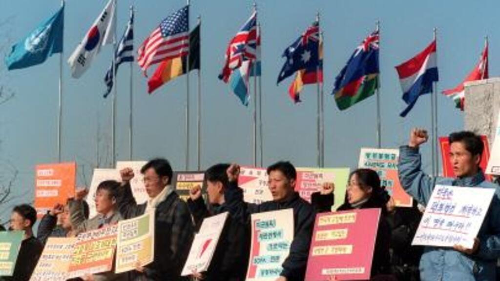 Manifestation de soutien aux victimes de l'Agent Orange en Corée du Sud