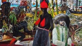 """""""A Primeira Missa"""", obra do artista brasileiro Luiz Zerbini, em cartaz na mostra """"Géométries Sud"""", na Fundação Cartier de Paris."""