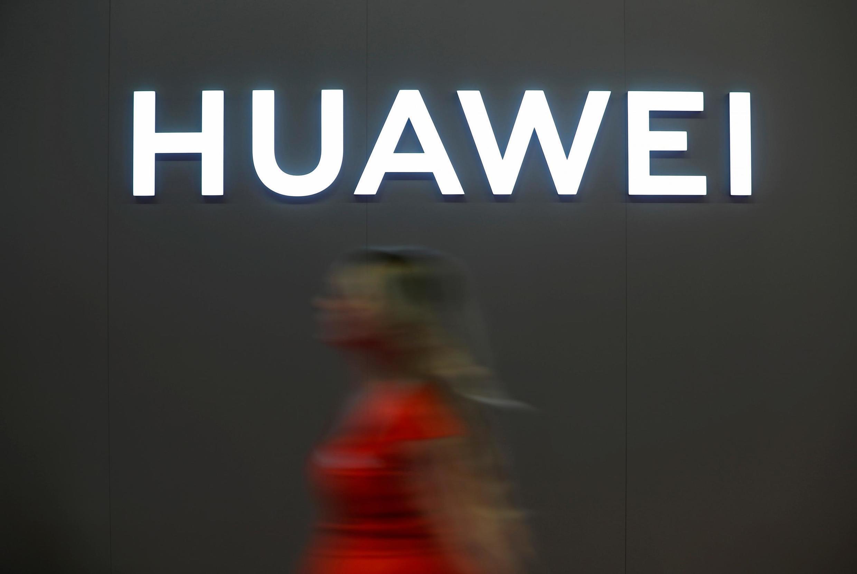 中國電訊巨頭華為標識資料圖片