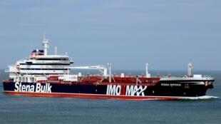 Chiếc tàu dầu Stena Impero của Anh bị Iran tịch thu.