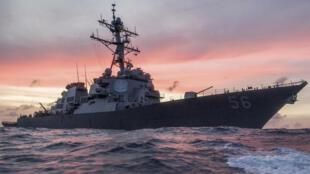 Khu trục hạm US John S.McCain tuần tra Biển Đông, ảnh ngày 22/01/2017.