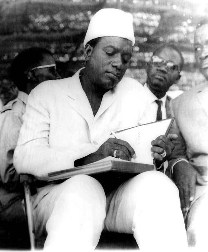 Modibo Keita, premier président du Mali. Le 22 septembre 1960, il proclame l'indépendance du Soudan français qui devient la république du Mali.