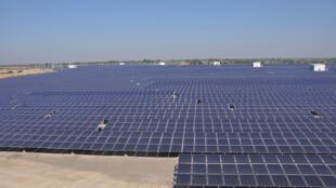 Un champ photovoltaïque dans l'Etat du Gujarat.