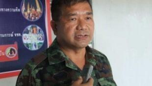 Tướng Manas Kongpan, 58 tuổi, là một trong 72 người bị truy tố vì tội buôn người tại Thái Lan.