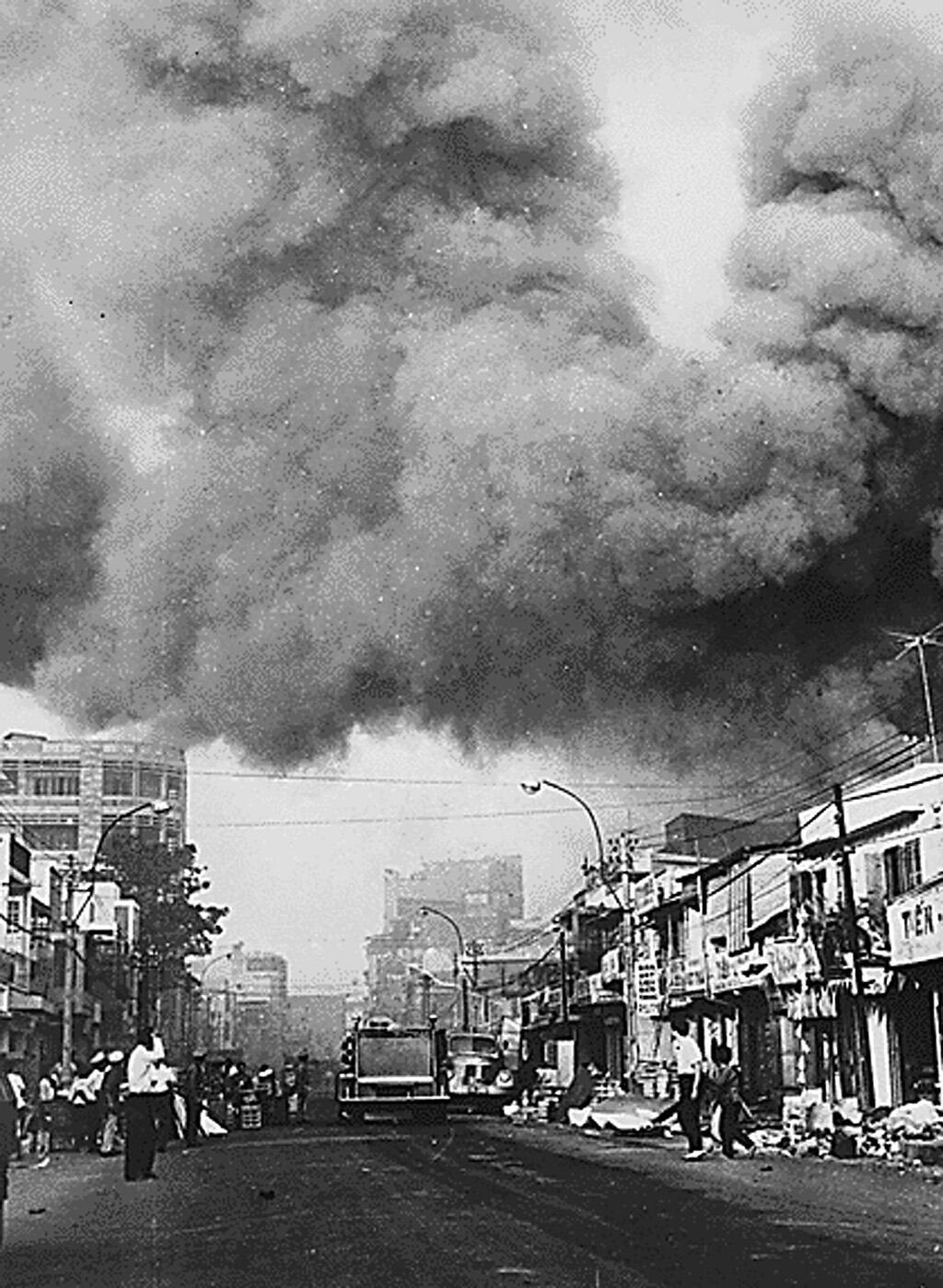 Saigon ngày 31/01/1968 trong cuộc tổng tiến công Tết Mậu Thân. Ảnh tư liệu