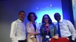 De gauche à droite : Pierre Capentier, Emmanuelle Bastide, Jessica Taieb et Didier Acouetey.