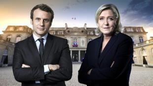 El centrista liberal Emmanuelle Macron y la ultraderechista Marine Le Pen