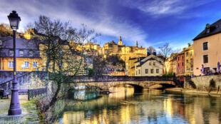 Vue de la ville de Luxembourg.