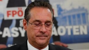 Under pressure: Heinz-Christian Strache, Austrian far-right party leader and Vice-Chancellor.