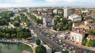 Vue de Tsarigradsko shose, partie sud de la ville de Sofia, en Bulgarie. Sofia qui abrite le sommet EU-Balkans occidentaux. (Photo d'illustration)