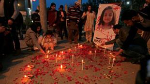 Le corps de Zainab, âgée de six ans, a été retrouvé mardi 9 janvier 2018 sur un tas d'ordures dans la ville pakistanaise de Kasur.