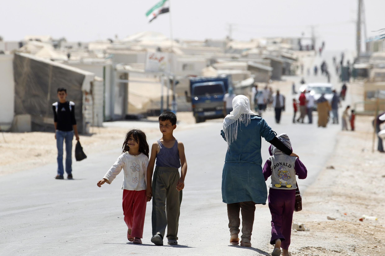 Wasu yara 'yan kasar Siriya da ke gudun hijira