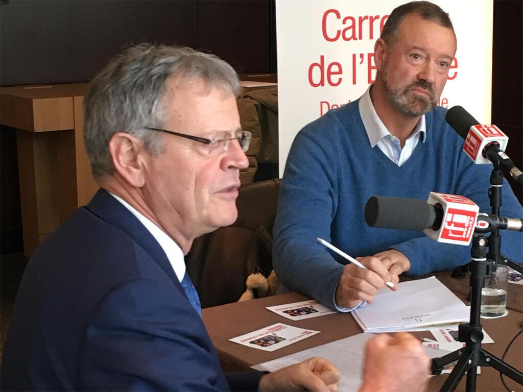 Chuyên gia Pascal Boniface (T) trong cuộc trả lời phỏng vấn RFI ngày 11/02/2018.