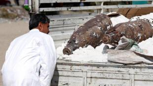 (Ảnh minh họa). Lực lượng an ninh Kabul tìm thấy hai trái bom nặng 500 kg trong một chiếc xe, ngày14/10/2017.
