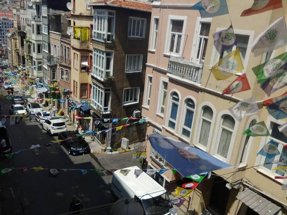 The view from the HDP's office in Istanbul