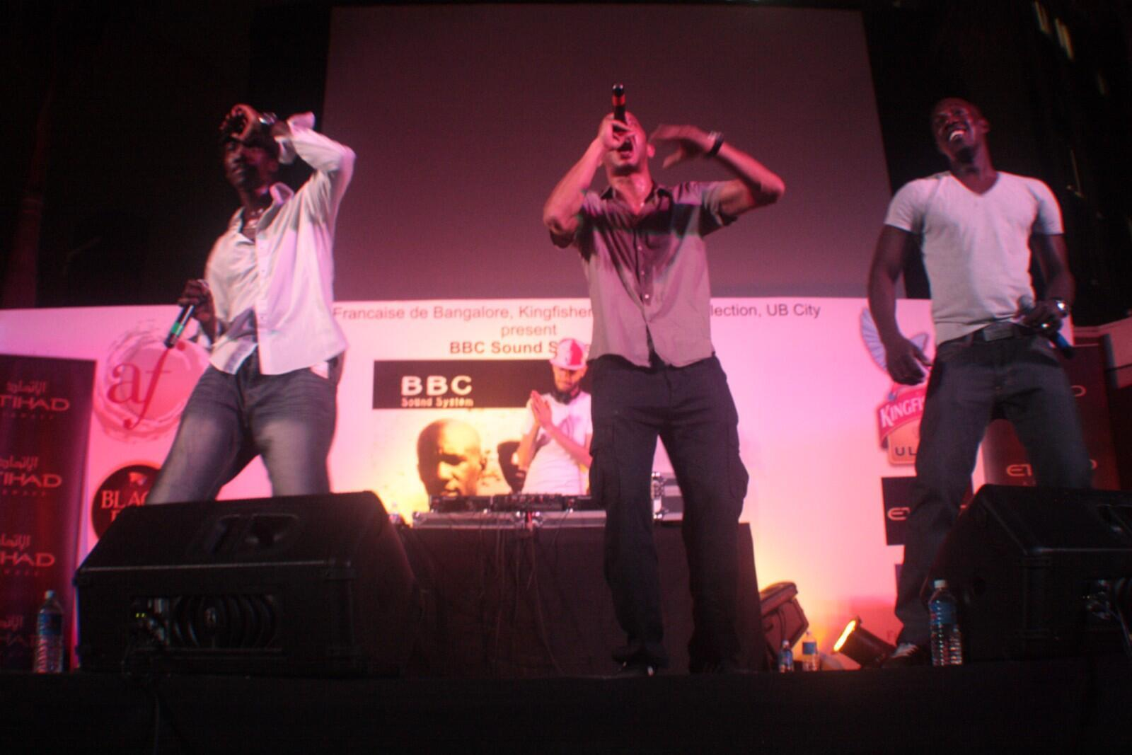 BBC sound system performing in India