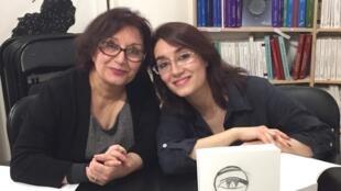 پوران دخت امیرافسر و دخترش، شهراز در انتشارات لارماتان در پاریس