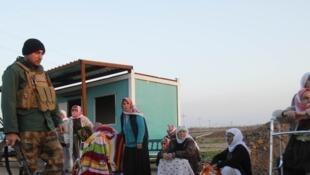 Des membres de la minorité religieuse kurdophone Yézidi ont été libérés par l'organisation Etat islamique, le 17 janvier 2015 en Irak.