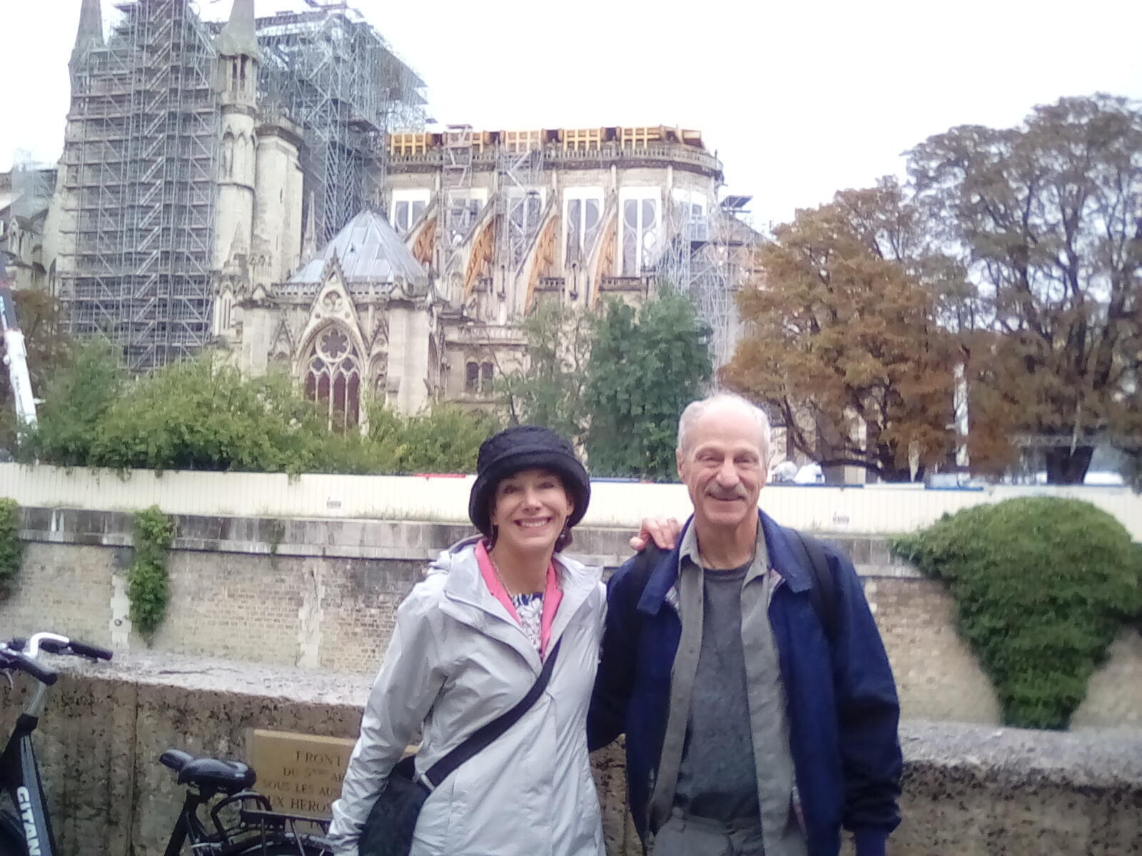 """Paula and Steven Allbright from the US are """"devastated by the damage done to Notre Dame"""" but undeterred by talk of lead poisoning"""