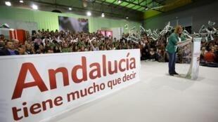 Os socialistas recuperaram o poder na Andaluzia, maior região da Espanha, nas eleições locais deste domingo. Na foto a candidata socialista Susana Diaz.
