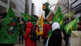 La manifestation des agriculteurs, le mercredi 17 janvier 2018, à Bruxelles contre les nouveaux OGM.