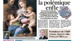 Capa do jornal francês Le Figaro desta quinta-feira, (11)