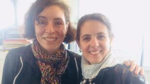 Sophie Nawrocki et Florence Codet, conservatrices à la Bnf.