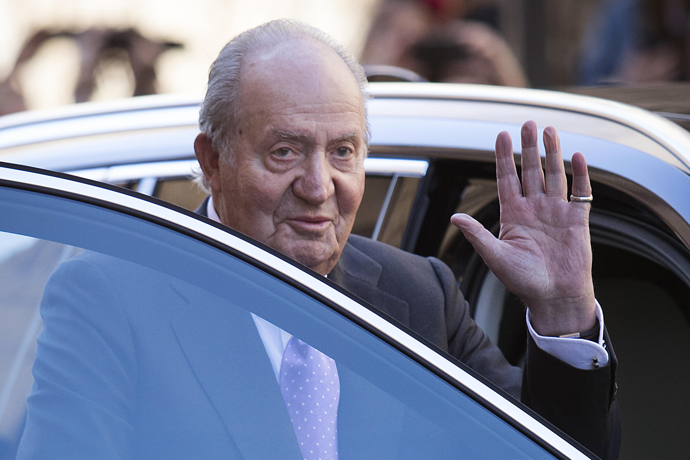 Spain's former king Juan Carlos abdicated in 2014