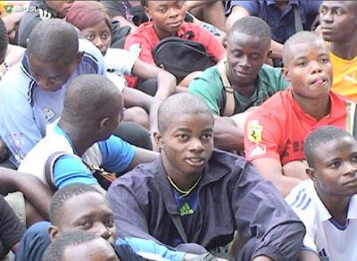 Des jeunes Ivoiriens.