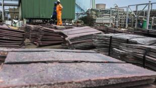 Mine de cuivre de Nchanga (Chingola) exploitée par la compagnie Konkola Copper Mines Plc, qui appartient à la firme britannique Vedanta, mars 2016.