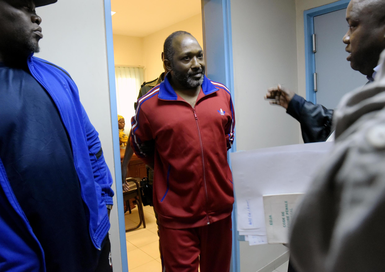 Le militaire guinéen Aboubacar Diakité, l'ancien aide de camp de Moussa Dadis Camara, ici au tribunal de Dakar le 10 janvier 2017.