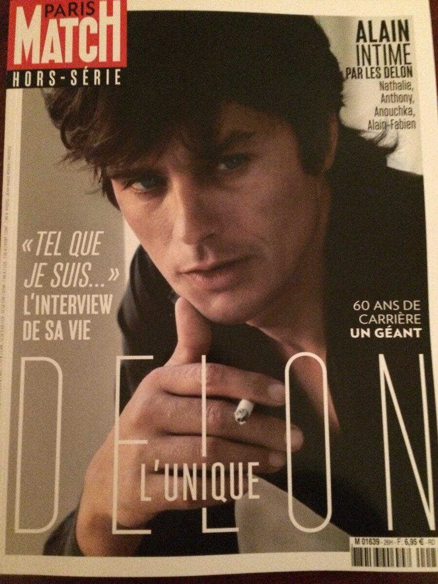 «Спасибо Алену Делону за искреннее интервью для специального выпуска Paris Match»,  – написала Валери Триервейлер в Twitter.