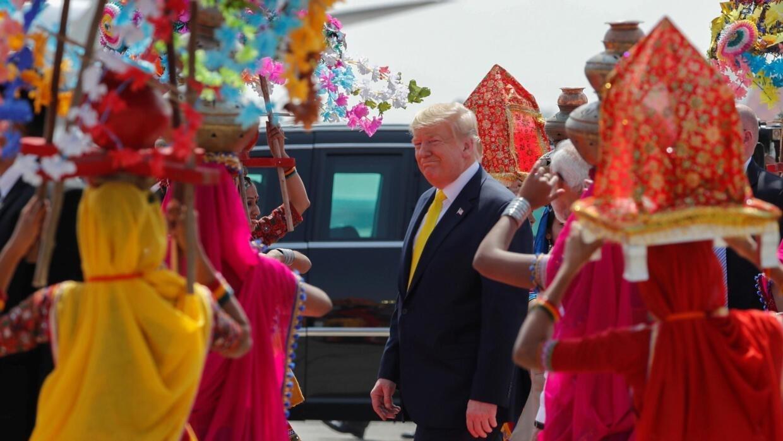 Inde: visite historique et tapis rouge pour Donald Trump