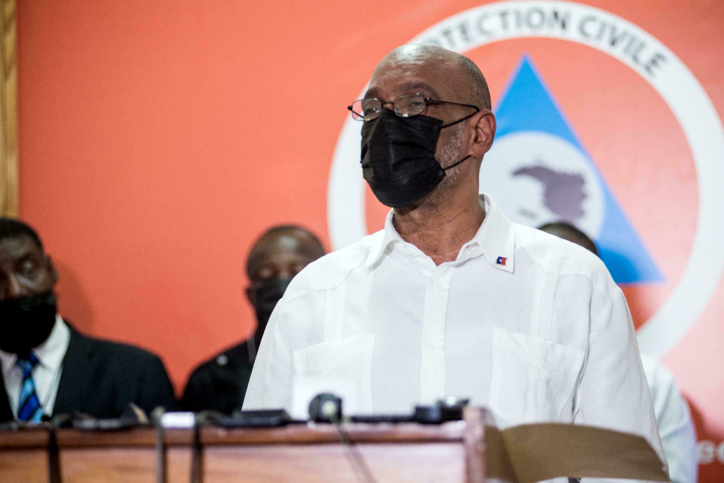 Haitian Prime Minister Ariel Henry (pictured August 2021) said a new constitution would not solve all of the island nation's problems but would help organize the government more efficiently