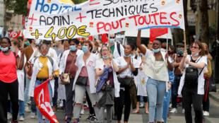 SANTE SALUD HOPITAUX MANIFESTATION PROTEST HOSPITALES FRANCE FRANCIA