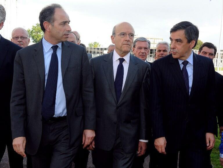 With friends like these ...Jean-François Copé (L) Alain Juppé (C) François Fillon (R)