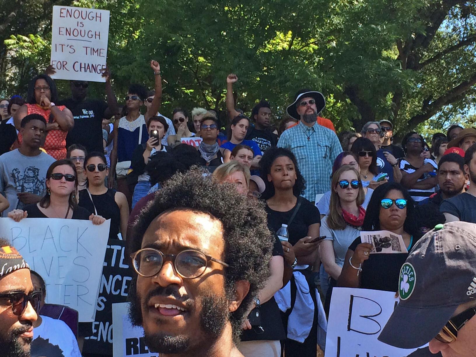 Rassemblement au parc Marshall  ce samedi après-midi, 24 septembre 2016.