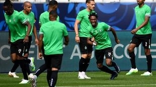 Yvan Neyou (C) lors de la finale de la Coupe de France face au PSG, le 23 juillet 2020.