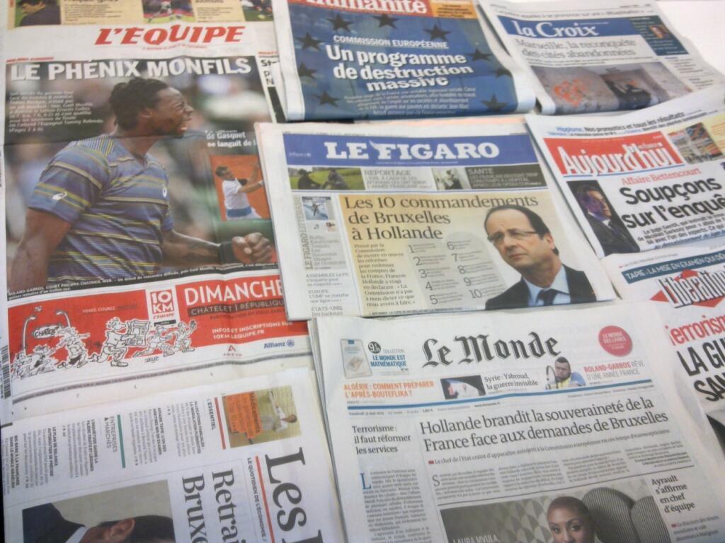 Diários franceses  30/05/2013