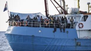 O navio Iuventa da ONG alemã Jugend Rettet