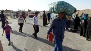 Les habitants sunnites de Ramadi ont commencé à fuir la ville. Ici, le 15 mai 2015.