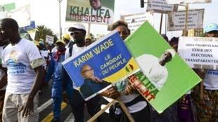 La liste définitive des candidats retenus à l'élection présidentielle du 24 février 2019 sera connue le 21 janvier. (Photo prise à Dakar le 29 novembre 2018 lors d'une manifestation pour demander une présidentielle «transparente»).