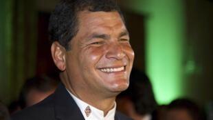 Rafael Correa, el día de su reelección como presidente de Ecuador, el pasado 17 de febrero de 2013.