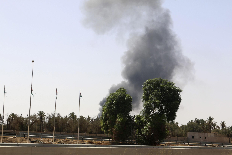 Бои возле международного аэропорта в Триполи, 25 июля 2014 г.