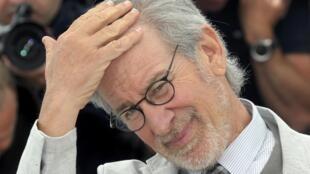 Le réalisateur Steven Spielberg, président du jury de la 66e édition du Festival de Cannes, le 15 mai 2013.