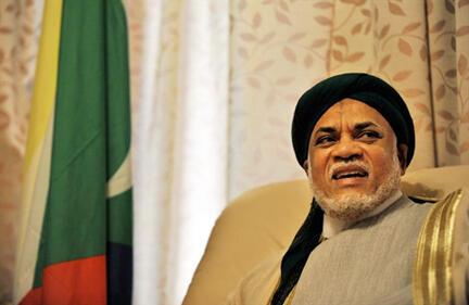 Ahmed Abdallah Sambi, à Moroni, le 13 avril 2010.